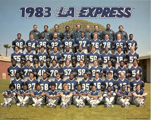 1983 Los Angeles Express Roster Usfl United States Football League