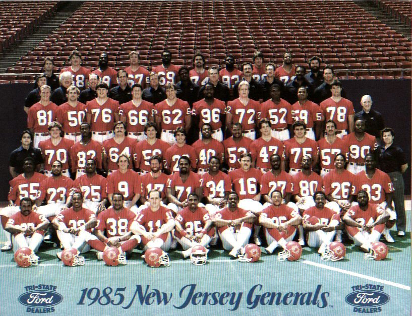 8ffc953c5fa 1985 New Jersey Generals Roster - USFL (United States Football League)